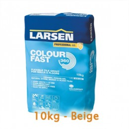 Larsen 10kg Colourfast 360 Stain Resistant Narrow Joint Flexible Grout Beige